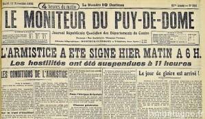 blog -armistice du 11 nov 1918_moniteur-du-puy-de-dome