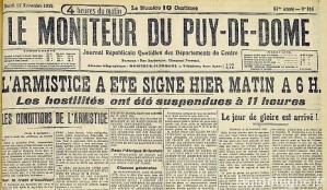 blog -armistice du 11 nov 1918_moniteur-du-puy-de-dome